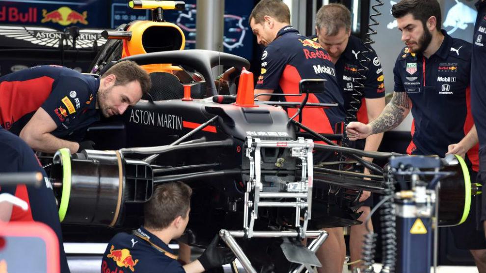 El equipo Red Bull, en los prolegómenos del Gran Premio de Australia