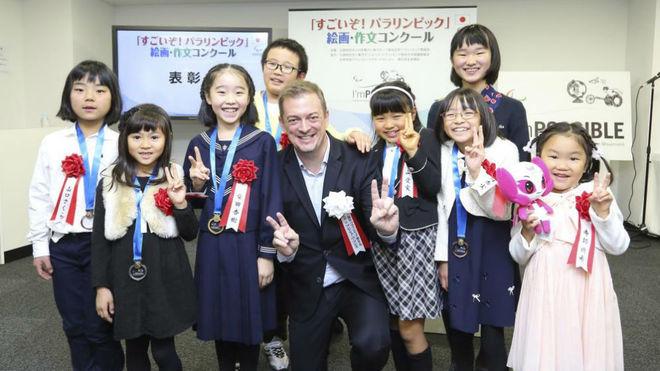 Andrew Parsons, presidente del Comité Paralímpico Internacional,...