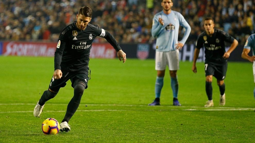 Ramos lanza un penalti en Balaídos