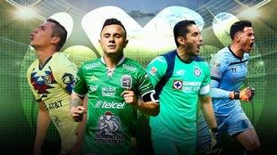 Los capitanes de la Liga MX.