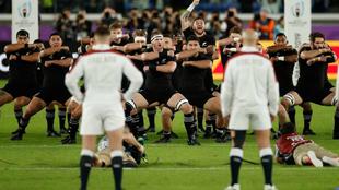 Haka de los All Blacks frente a Inglaterra en las semifinales del...