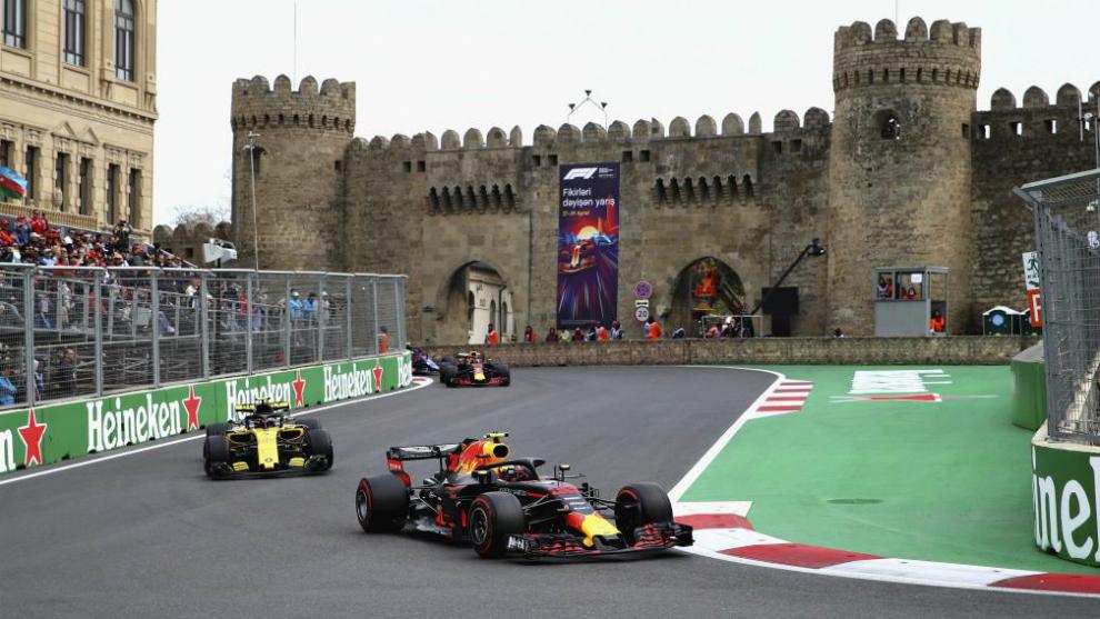 Verstappen, en el GP de Azerbaiyán.