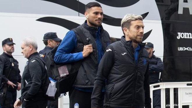 'Papu' Gómez, a su llegada a Valencia con la Atalanta.