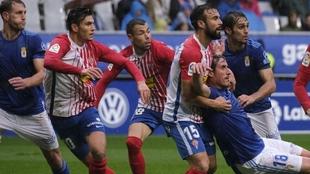 El último derbi enrtre Oviedo y Sporting.