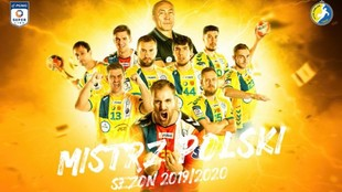 Cartel del Kielce polaco como campeón de Liga 2019/20 /...