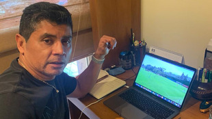 Marco Antonio Ruiz trabaja desde casa.
