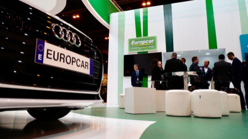 El 'stand' de la 'rent-a-car' Europcar en una edición pasada de FITUR