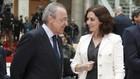 Florentino Pérez e Isabel Díaz Ayuso durante un acto en la Comunidad...
