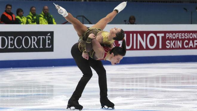 Dorota Broda y Pedro Betegón, en su debut en un Europeo de patinaje...