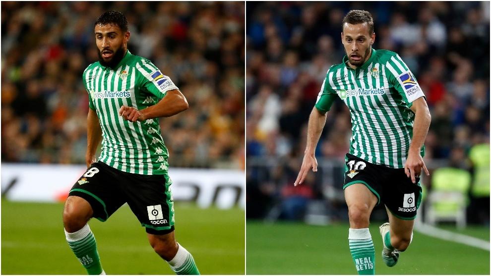 Fekir y Canales, en un partido de Liga