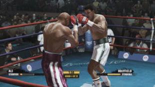 Combate virtual Ali vs Holyfield.