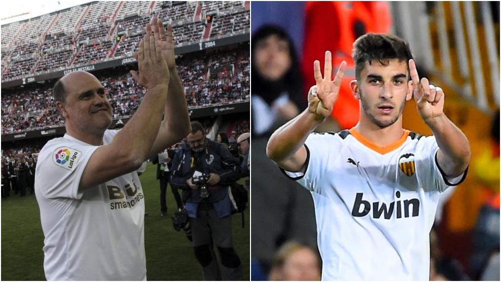 Fernando Gómez, e el partido de leyendas del Valencia y Ferran,...