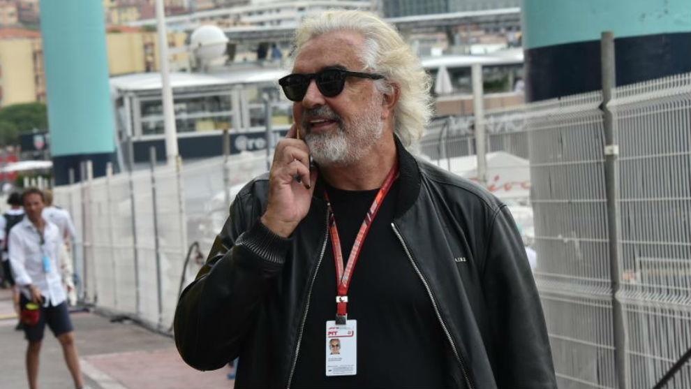 Briatore, en un gran premio de F1.