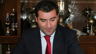 Paco Sanz, en su etapa de presidente del Granada