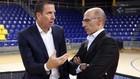 Nacho Rodríguez y Joan Bladé, directivos del Barça, durante la...