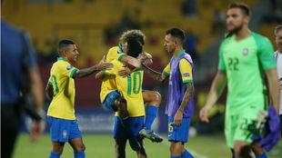 Brasil celebra su clasificación a Tokyo 2020