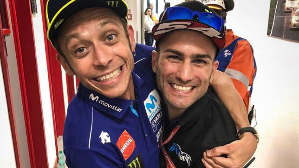 Rossi y Pasini, juntos en Mugello en 2018.
