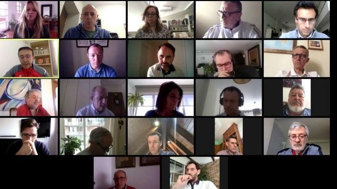 La reunión telemática de la Junta Directiva de la Asociación del...