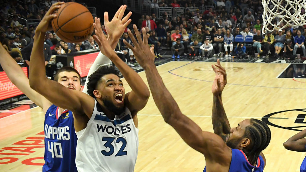 Karl-Anthony Towns con los Timberwolves