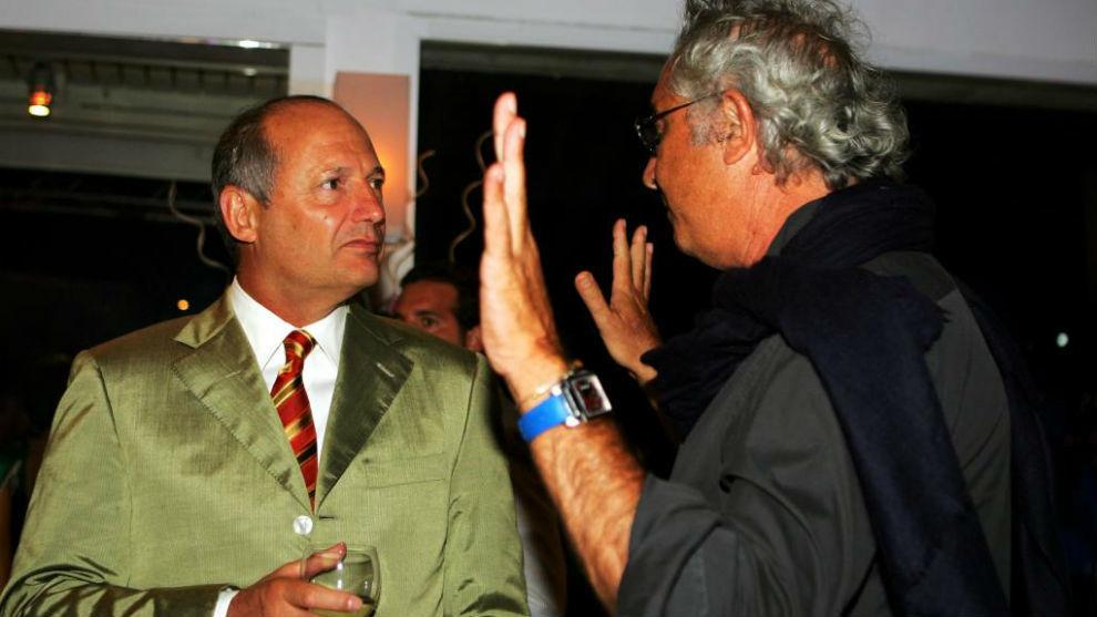 Ron Dennis y Briatore, en 2006.