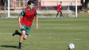 Pere Milla, durante un entrenamiento de la presente temporada