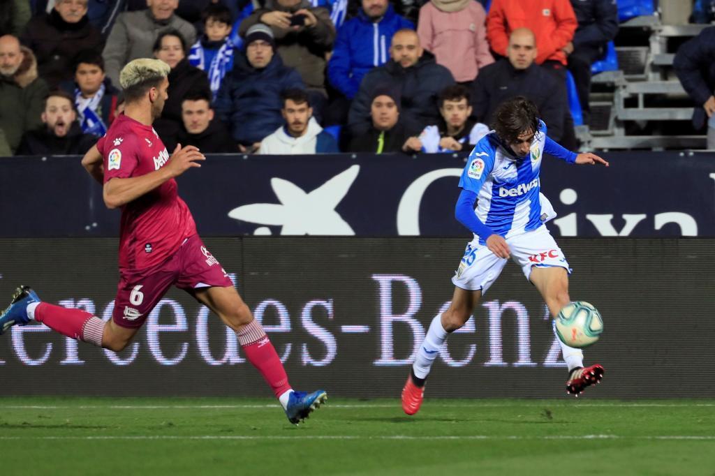 Lisandro Magallán durante un partido frente al Leganés.