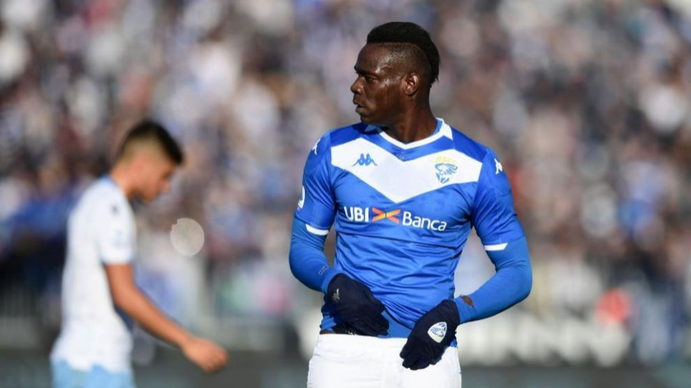 Balotelli, en un partido contra la Lazio.