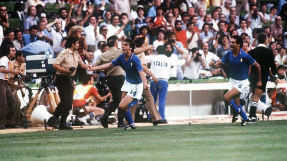 El grito de Marco Tardelli en la final del Mundial'82 contra Alemania.