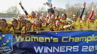 La selección española, campeona femenina de Europa 2018