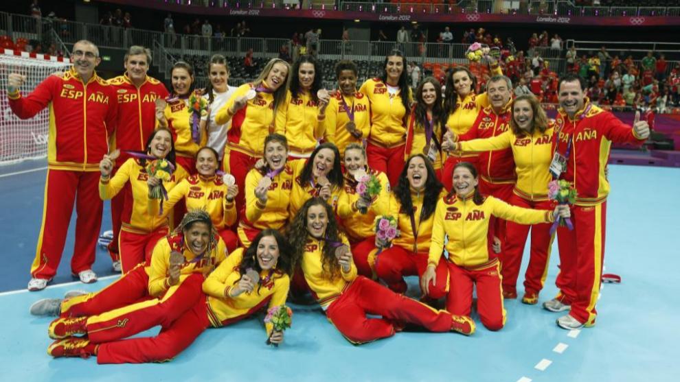 Nuestras campeonas lucen su medalla de bronce en los JJOO de Londres