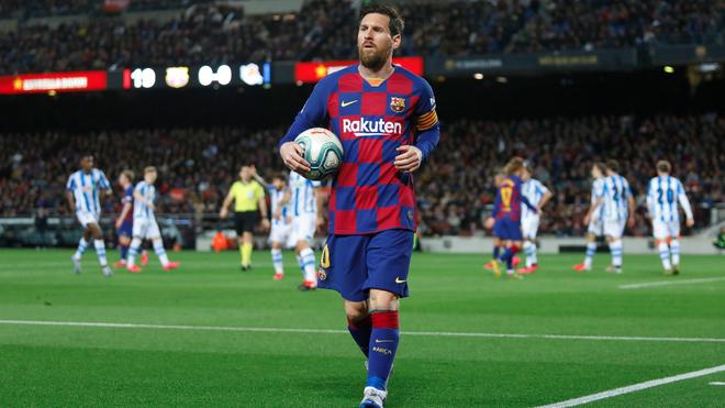 Messi, en un partido del Barcelona.