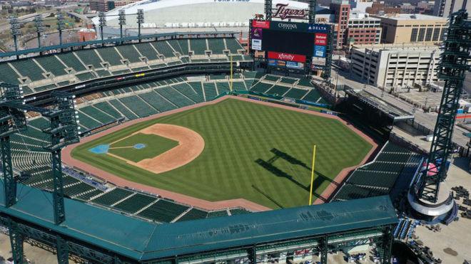 El Comerica Park donde juega los Detroit Tigers de la MLB.