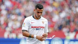 Rony Lopes, sustituido en el partido ante Osasuna.
