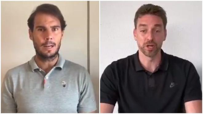 Rafa Nadal y Pau Gasol se unen para luchar contra el coronavirus