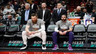 Ricky Rubio, en el banquillo de los Suns
