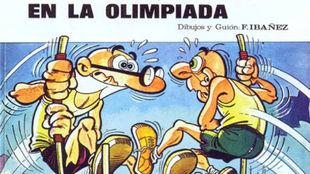 Portada original de Mortadelo y Filemón en la Olimpiada. 1972