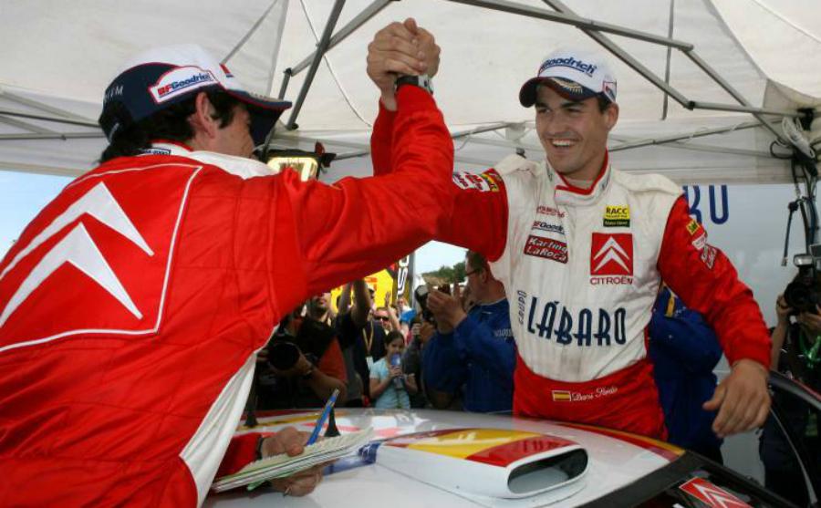 Sordo, un día como hoy, celebrando con Marc Martí su primer podio en...