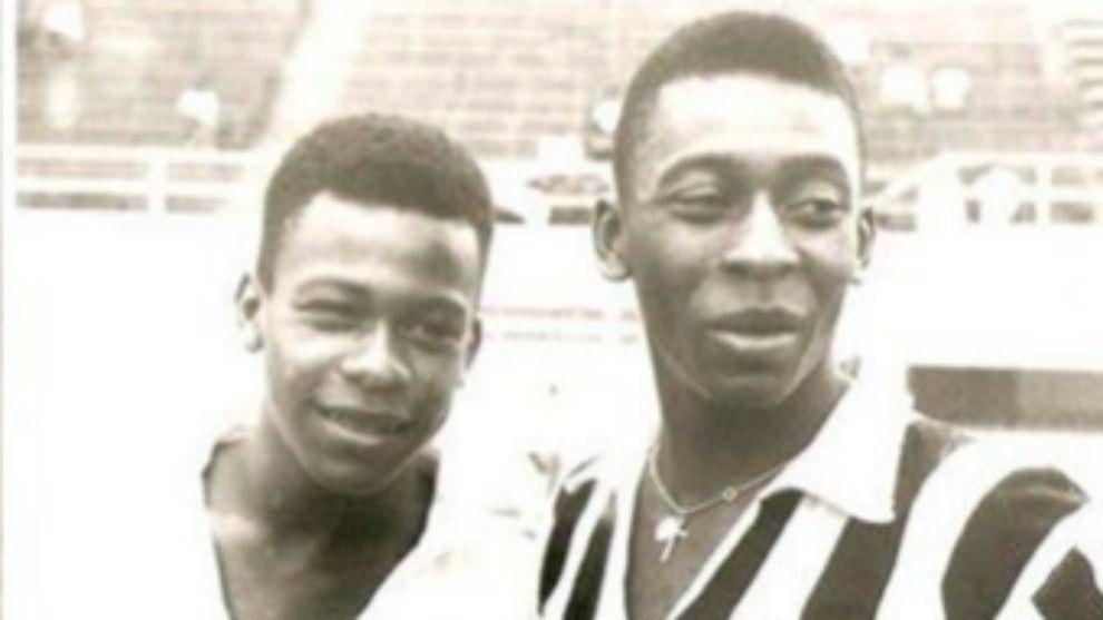 Zoca, junto a su hermano Pelé.