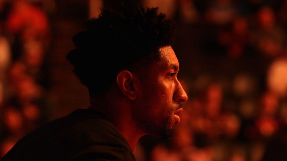 Christian Wood, antes de un partido ante Phoenix Suns.