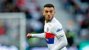 Cherki, en un partido de la Ligue 1