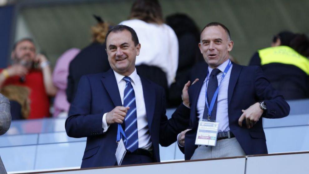 José María Muñoz, junto a Christian Lapetra, presidente del...
