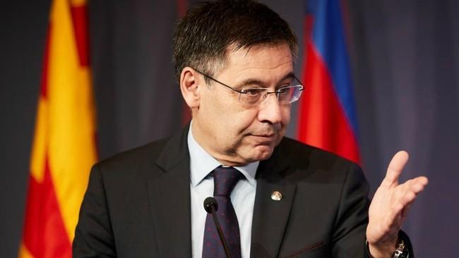 Bartomeu durante la entrega del premio Vázquez Montalbán.