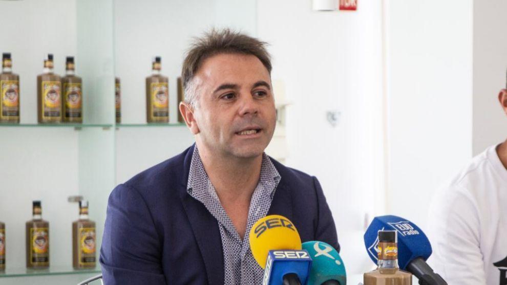 El presidente Manuel Franganillo durante un acto del club