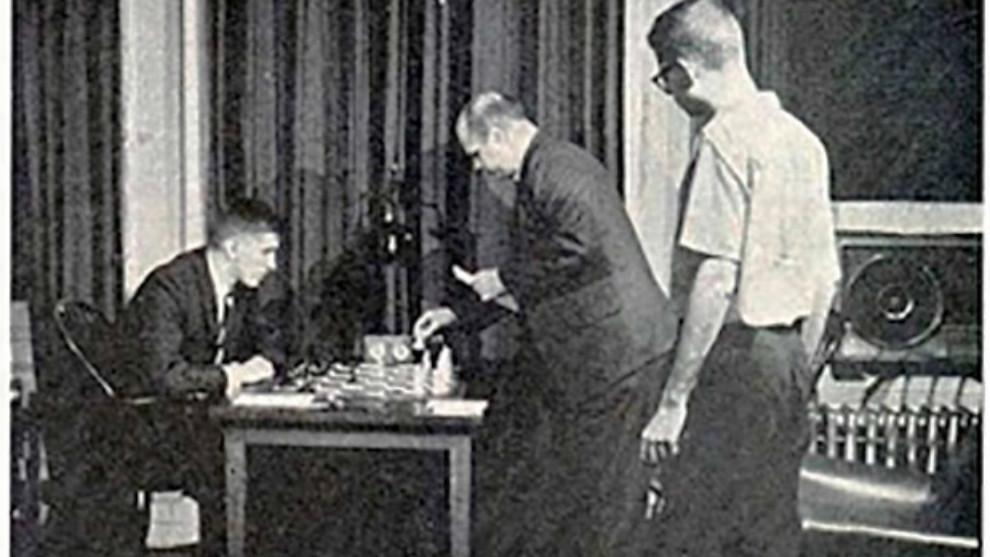 Bobby Fischer juega por teletipo. 1965.