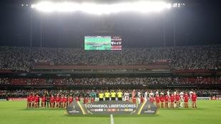 Duelo de la Copa Libertadores.