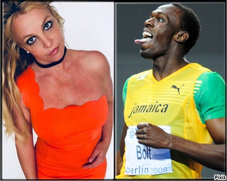 Britney Spears y Usain Bolt