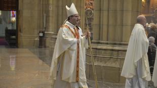 El Obispo de San Sebastián, Monseñor Munilla, durante una misa