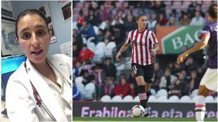 Arrate Orueta, ex futbolista del Athletic Club, y ahora doctora en el...