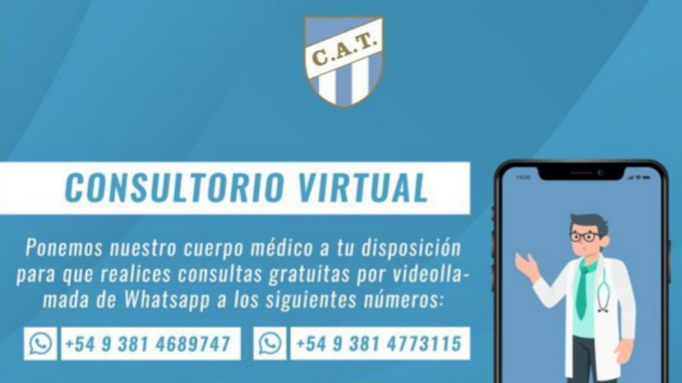 El anuncio de Atlético Tucumán en su cuenta de Twitter.