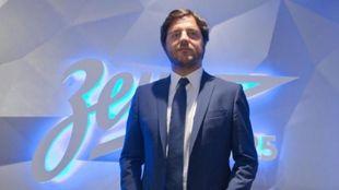 Javier Ribalta, durante su presentación como director deportivo del...